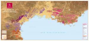 Carte des vignobles de Méditerranée Hecht & Bannier