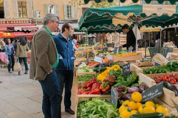 Grégory HECHT et François BANNIER marché Aix en Provence