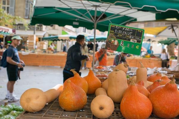 Potimarron et Buternut marché Aix en Provence