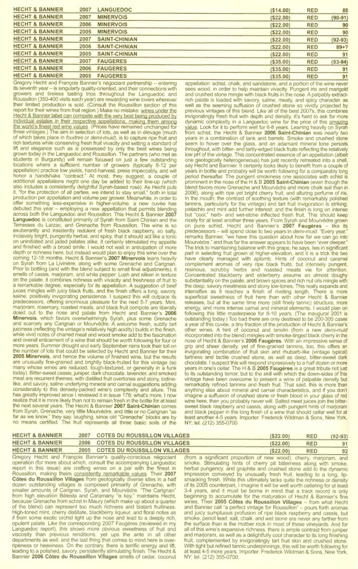 robert parker's wine advocate (david schildknecht) / hecht &bannier