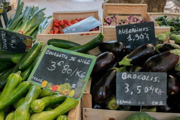 Légumes marché Aix en Provence
