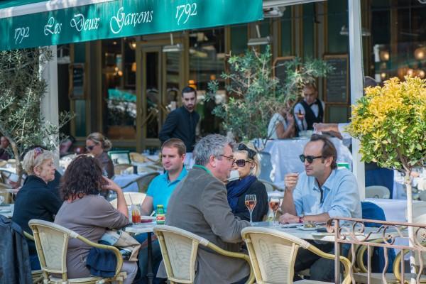 Grégory Hecht et François Bannier terrasse Aix en Provence