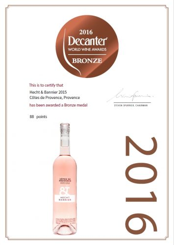 provence rosé – bronze medal – decanter world wine awards