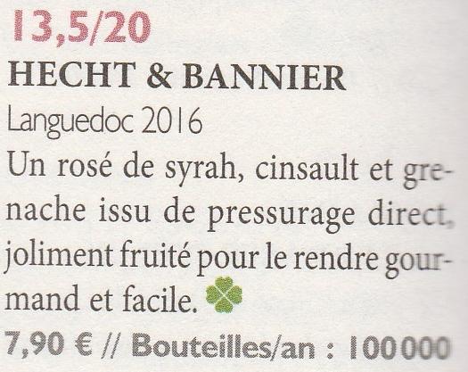 la revue du vin de france / languedoc rosé2016