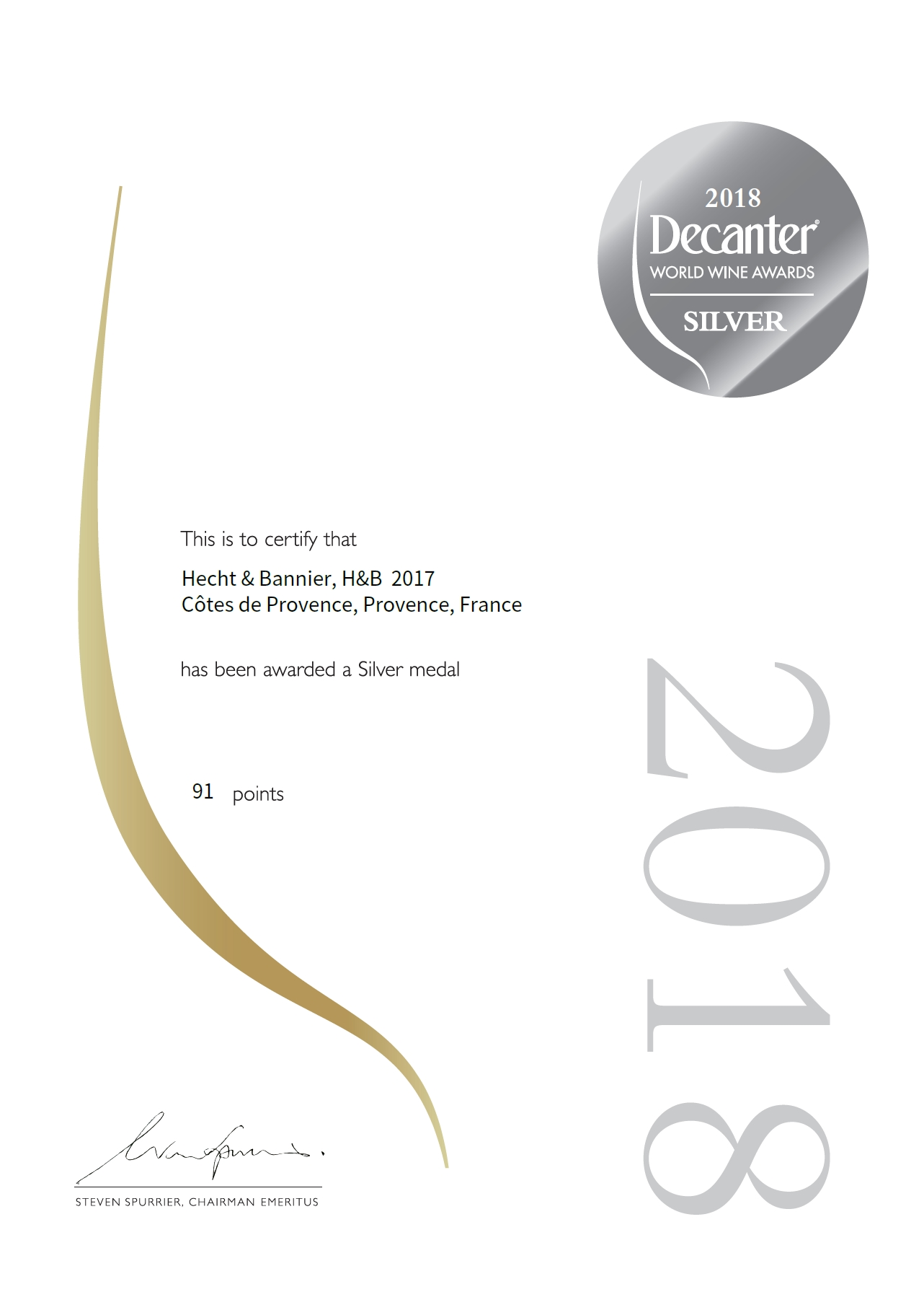 decanter world wine awards / côtes de provence rosé 2017