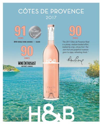 91/100 decanter / silver medal – côtes de provence rosé2017