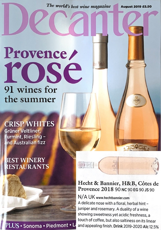 h&b provence 2018 / decanter