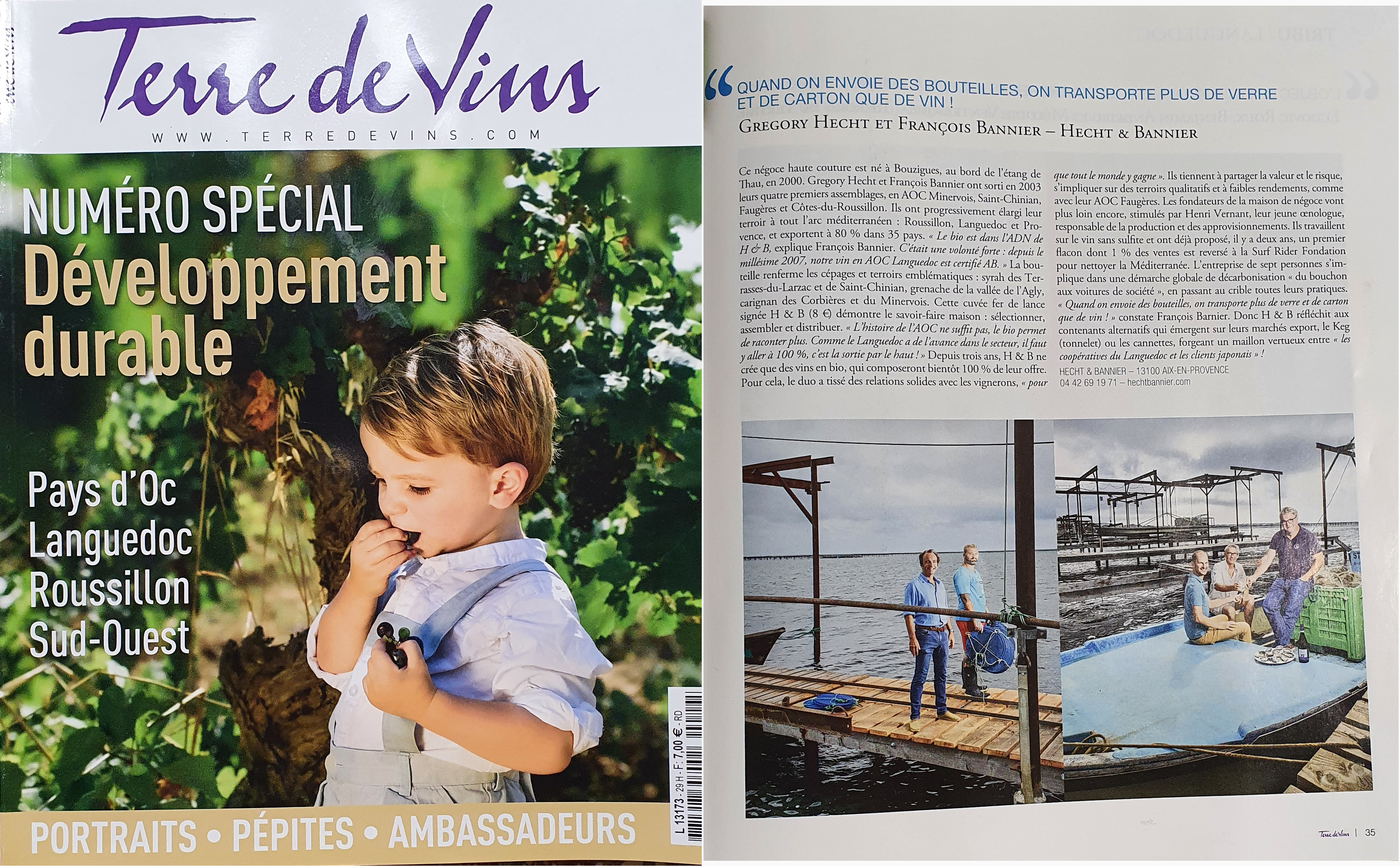our commitment to sustainable development / terre de vins