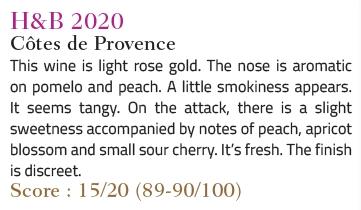 magazine vert de vin / h&b provence rosé2020